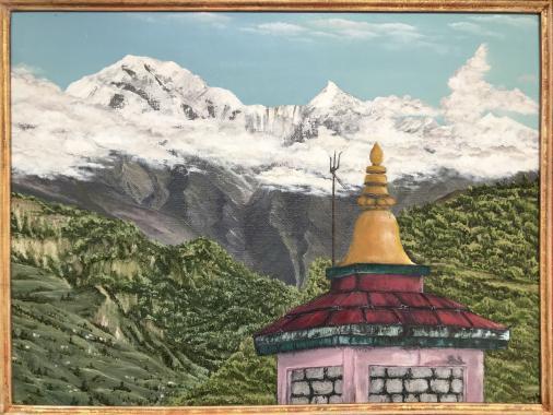 """картина маслом """"Непал"""""""
