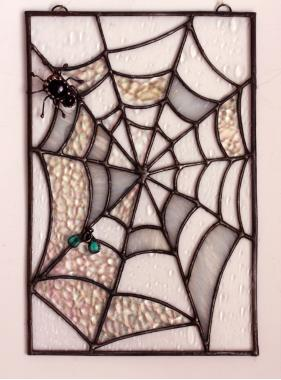 "Витраж на окно ""Паутина с пауком"""