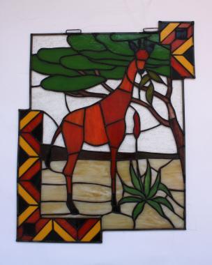 "Витраж на окно ""жираф"""