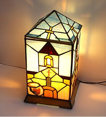 """лампа светильник """"Храм в горах"""""""