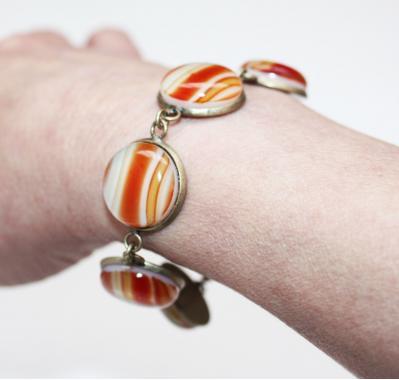 """браслет на руку """"Добрый день"""" из художественного стекла"""