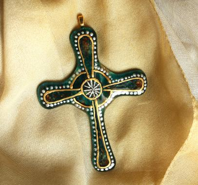 кулон-подвеска небесный крест
