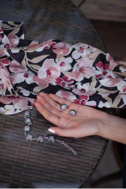 """набор украшений браслет и серьги-гвоздики """"Ну и пусть"""""""