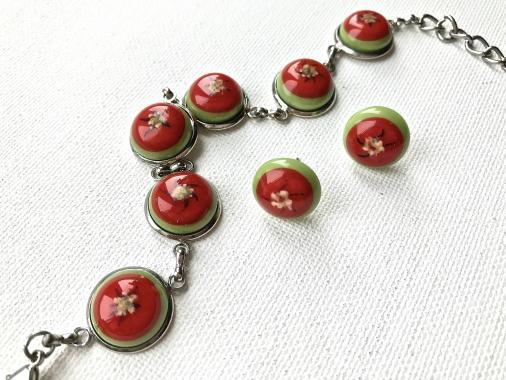 """авторская бижутерия набор украшений браслет и серьги-гвоздики """"Всегда"""""""