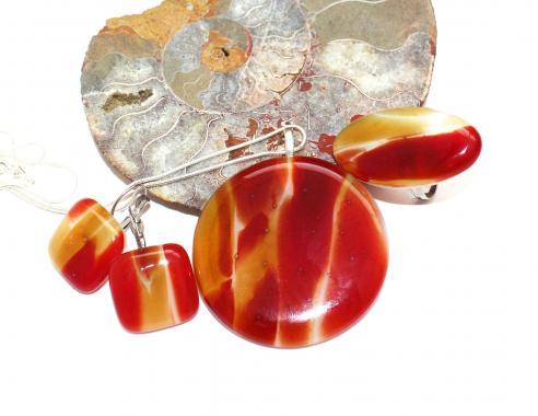 Комплект украшений кулон, кольцо и серьги Авторская бижутерия