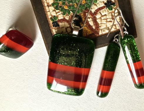 "набор украшений серьги кулон и кольцо ""Париж"""