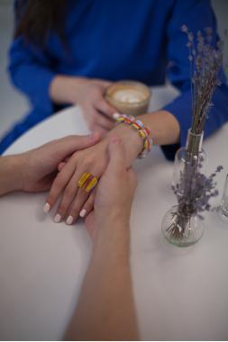 """набор украшений кулон кольцо серьги и браслет """"Хороший день"""""""
