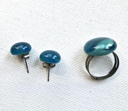 """набор украшений кольцо и серьги-гвоздики """"Капри"""""""