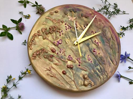 "Настенные часы ""полевые цветы"""