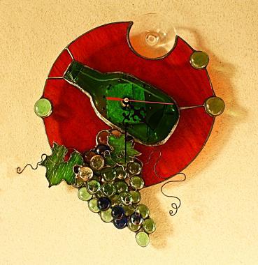 """часы настенные """"виноград - источник жизни"""""""