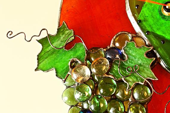 уникальные настенные часы виноград-источник жизни