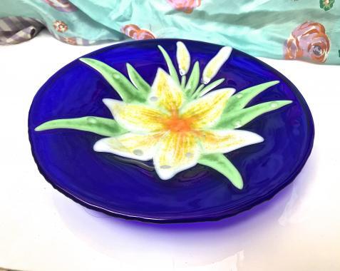 """тарелка """"Белая лилия"""""""