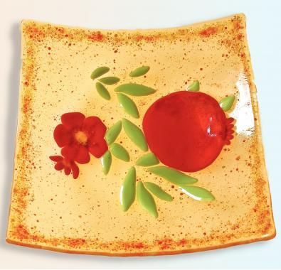 """тарелка подарочная """"Гранаты"""""""