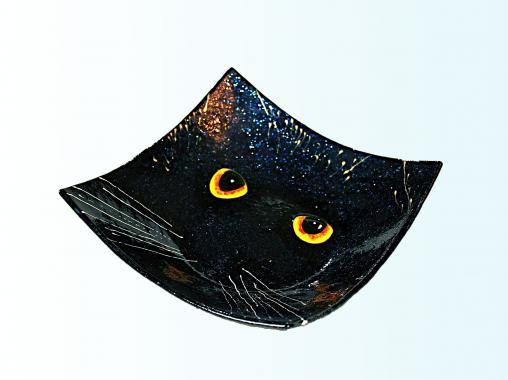 """Тарелка """"Черный кот"""""""