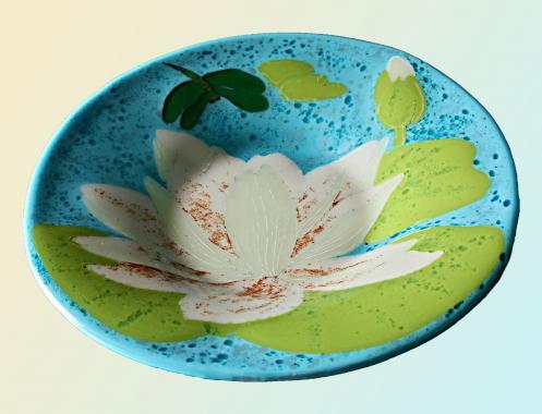 "тарелка ""белый лотос"""