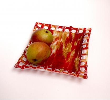 Тарелка ручной работы для печенюшек