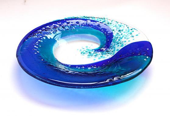 тарелка декоративная Большая волна