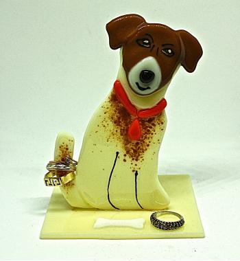 Собачка держатель для колец подсвечник джек рассел терьер