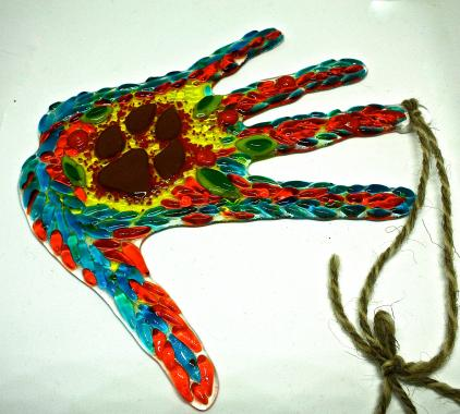 """декоративная подвеска """"рука в руке"""""""