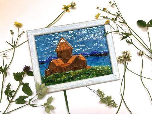 "Картина ""монастырь севанаванк"""