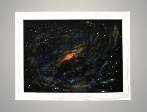 """Картина витраж """"глубокий космос, последний рубеж"""""""