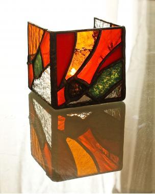"""подсвечник из стекла с поделочными камнями для создания романтической атмосферы """"амазония"""""""