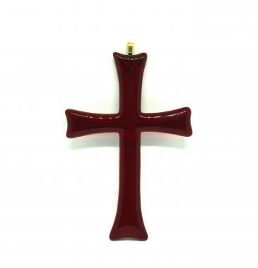 """подвеска декоративная """"крест красный"""""""