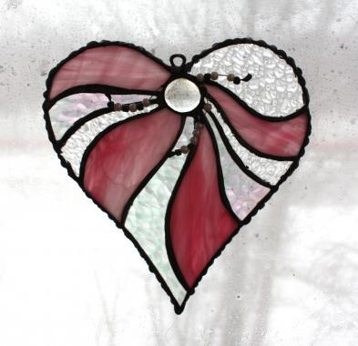 """розовое сердечко """"рассвет на мальдивах"""""""