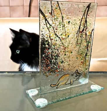 """интерьерное украшение """"котик на отдыхе"""""""