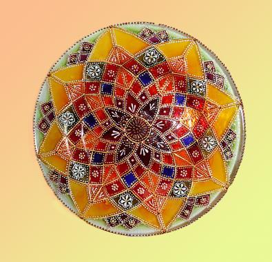 "декоративная тарелка на стену ""Мандала"""