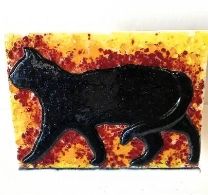 Держатель для салфеток ручной работы Кошка - ночной хищник