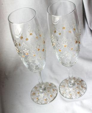"""Бокалы под шампанское """"свадебные"""""""
