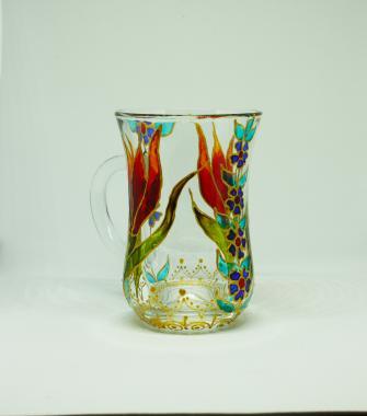 """стакан для чая армуд """"красный тюльпан"""""""