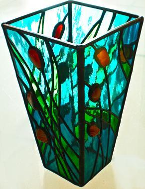 """ваза интерьерная с сердоликом """"мадлен"""""""